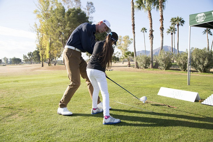 Scott Sackett Golf Instruction showing key swing positions to a junior player