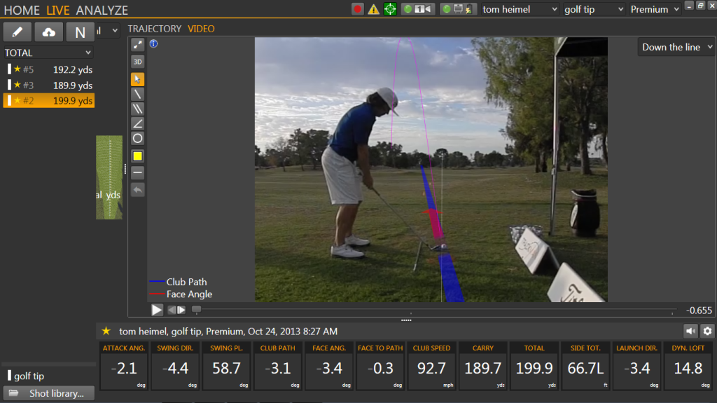 TrackMan Left Miss A
