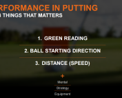 Scott Sackett TrackMan Putting - 3 things that matter